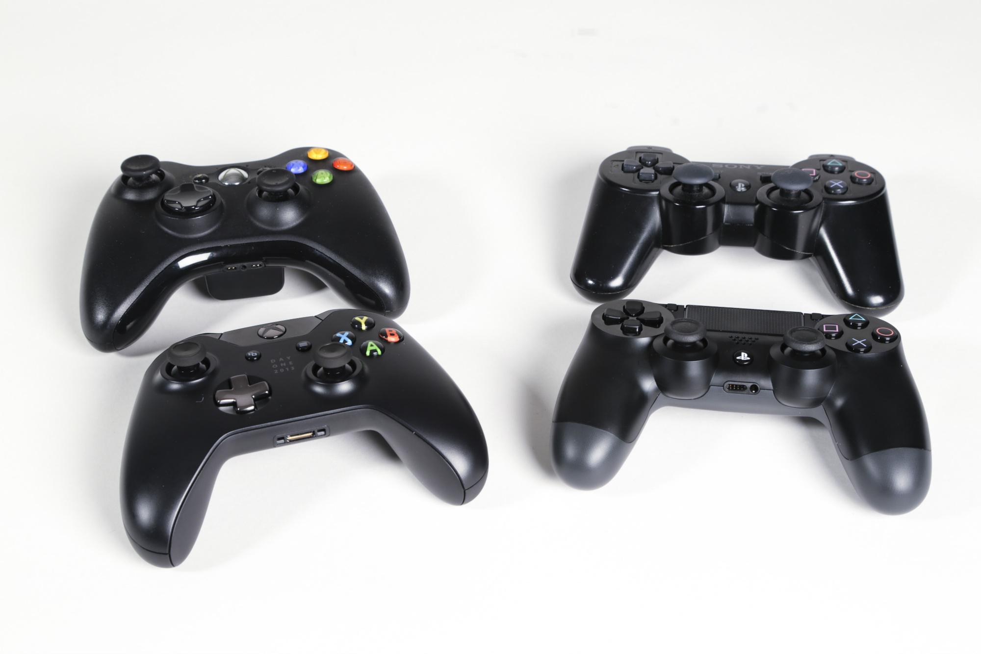 Alle controllers naast elkaar